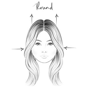 Round Face - Hair Contouring