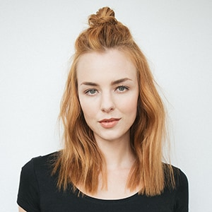 Messy Half-Up Top Knot