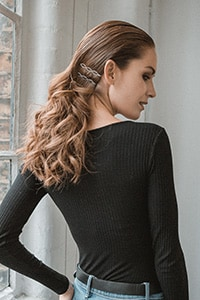 Statement party hairstyles for NYE