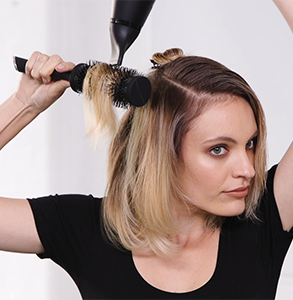 step six: Wrap hair into barrel curl and secure