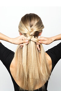 Create French plait at back of head
