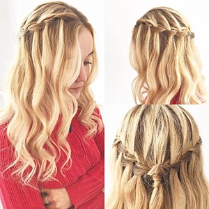Tousled Waves with Waterfall Braid