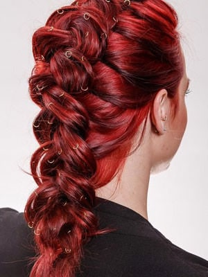 Reverse French Plait