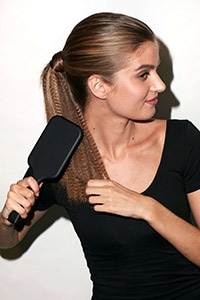 Textured Pony - Brush ponytail to soften texture