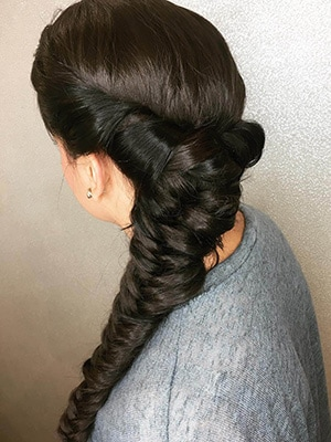 Voluminous Side Braid