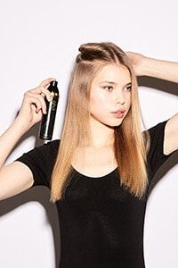 step one: Prep hair with smooth and straight spray