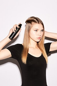 step one: Prep hair with straight & smooth spray