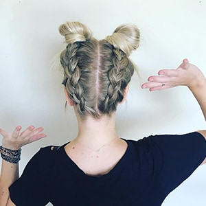 Double Braids and Buns