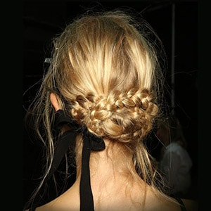 Messy Braided Bun