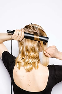 Repeat across back of head - Luxe Lob