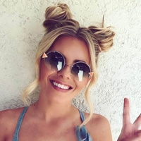 link to Molly King Coachella: Space buns