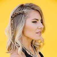 link to Molly King Coachella: Embellished rope braid
