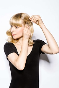 Accessorise with your choice of hair clips - Luxe Lob