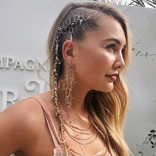 Adorned Side Braids
