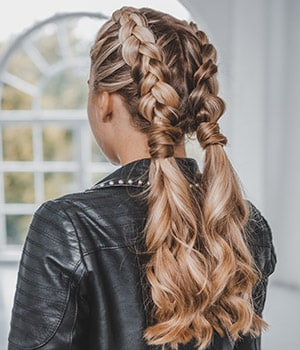Double Braided Updo