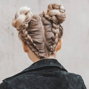 Braided Space Buns