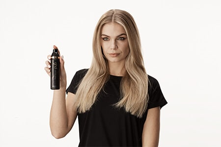 Step 1: Spritz hair with ghd curl hold spray
