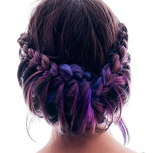 Fishtail plait updo