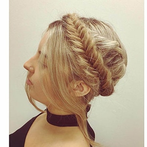 Braided Crown with Curls