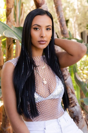 Maya Jama Straight Up Glitter