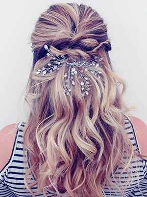 Half-Up Bun with Waves