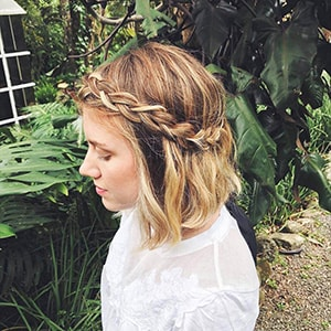 Braided Half Updo