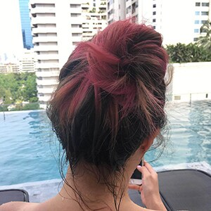 Messy topknot
