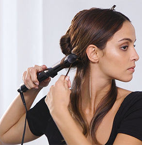 step four: On next section, twist wrap below section