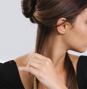 step two: Section hair at ears, clip away the rest