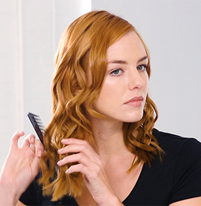 step eight: Dress hair with ghd detangling comb