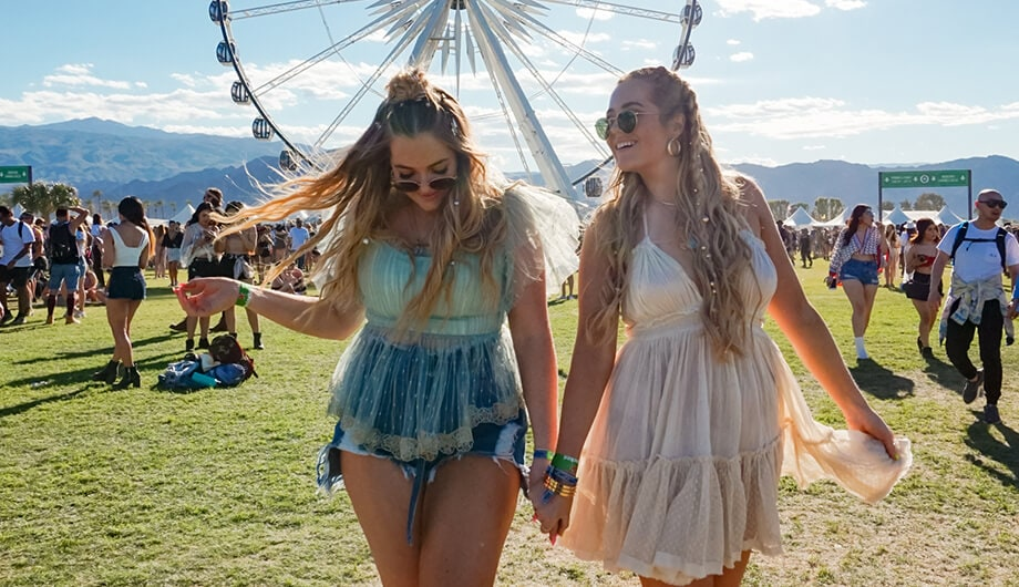 Lucy and Lydia Connell at Coachella
