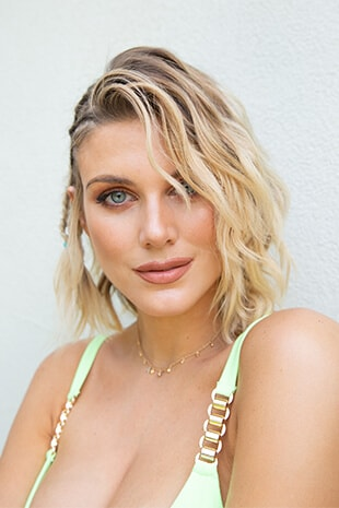 Ashley James with waves and braid