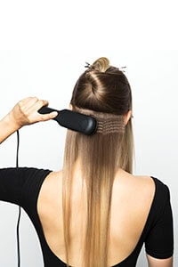 Repeat technique around sectioned hairline - Hidden Volume