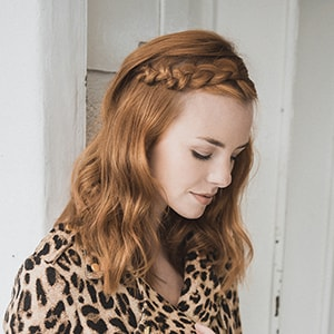 Tousled Braided Bangs