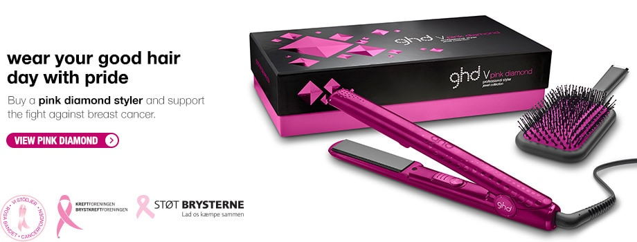 Wear your good hair day with pride. Buy a pink diamond styler and support the fight against breast cancer.