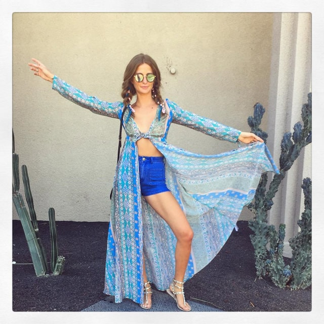 Millie Mackintosh at Coachella 2016 with ghd