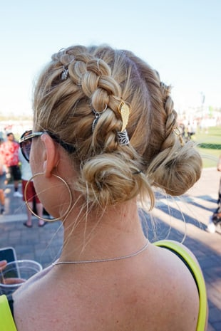 Embellishments and Braided Buns