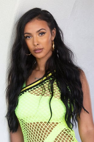 Maya Jama with loose luxe waves