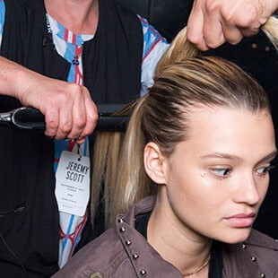 step three: To finish, perfectly straighten the ponytail using the ghd platinum® styler.