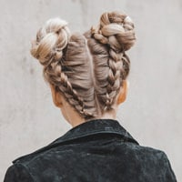 link to double braided buns how-to