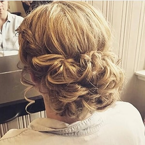 Curly Low Bun