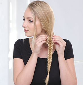 step ten: Stretch braids with fingers
