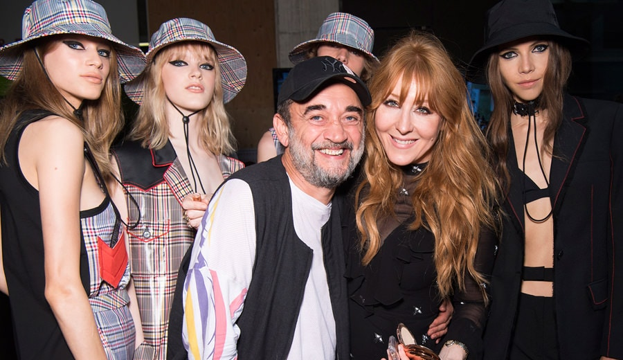 Eugene Souleiman and Charlotte Tilbury at SS18 Versus Versace show LFW