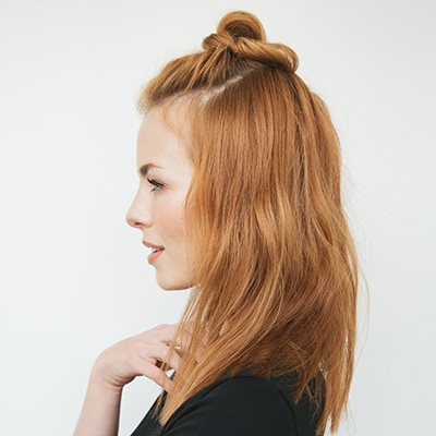 Messy Half Top Knot