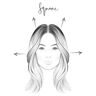 Square Face - Hair Contouring