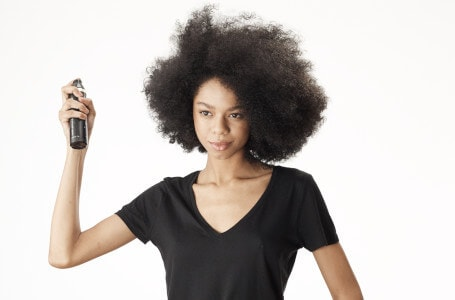 Step 1: Spritz wet hair with ghd heat protect spray