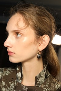 Close up on Preen model's hair