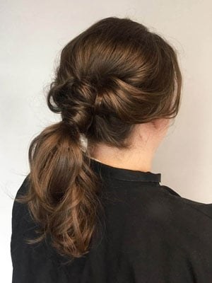 Low Twisted Ponytail