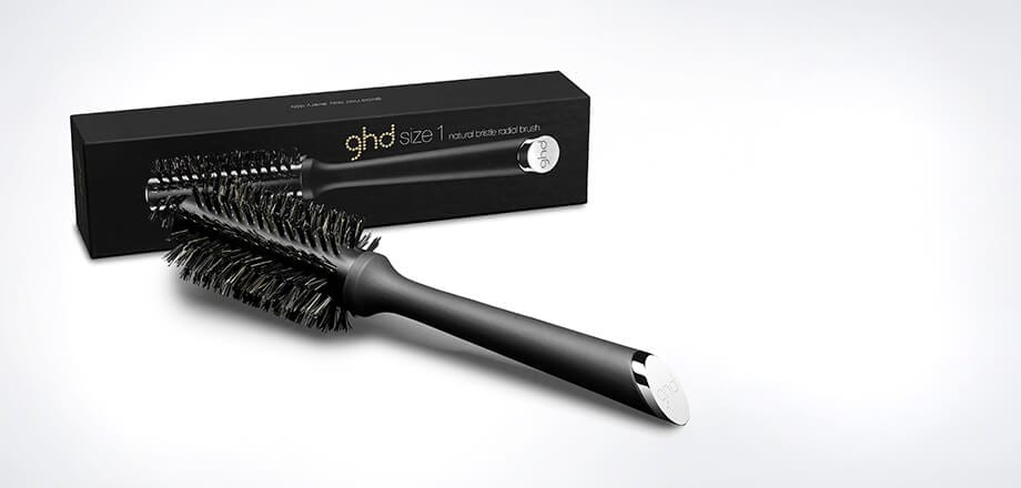 "ghd natural bristle radial brush size 1 (1.1"" barrel)"